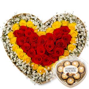 안개하트꽃박스 2호(초콜렛무료증정)