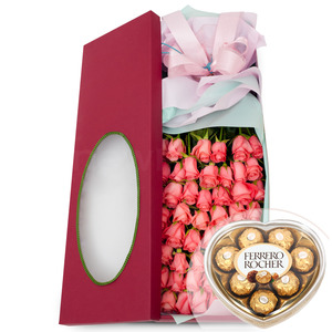 꽃상자 2호(핑크)(초콜렛무료증정)