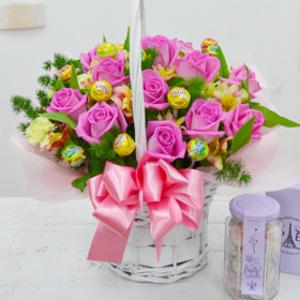 핑크사탕바구니(사탕무료증정)